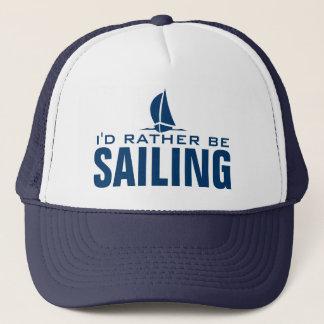 Ich würde vielmehr Seehut segeln Truckerkappe