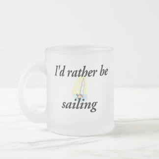 Ich würde vielmehr segeln matte glastasse