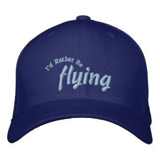 Ich würde vielmehr Versuchshut fliegen Bestickte Baseballkappe