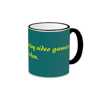 Ich würde vielmehr Videospiele spielen, als hier Ringer Tasse