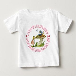 Ich wusste, wem ich heute morgen war, aber ich baby t-shirt