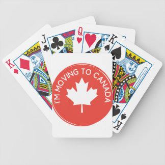 Ich ziehe nach Kanada wegen Präsidenten Trump um Bicycle Spielkarten