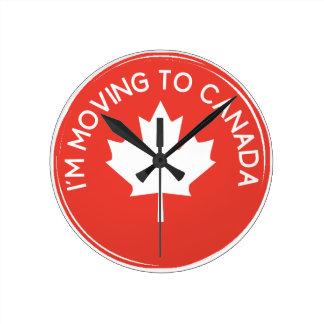 Ich ziehe nach Kanada wegen Präsidenten Trump um Runde Wanduhr