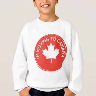Ich ziehe nach Kanada wegen Präsidenten Trump um Sweatshirt