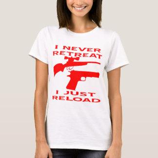 Ich ziehe nie mich neu lade gerade zurück T-Shirt