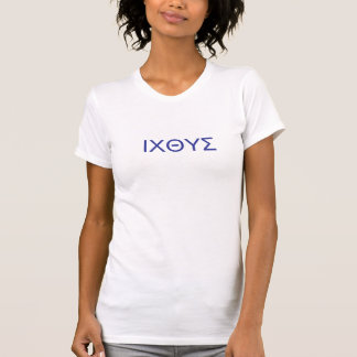 Ichthus T - Shirt, griechische Buchstaben T-Shirt