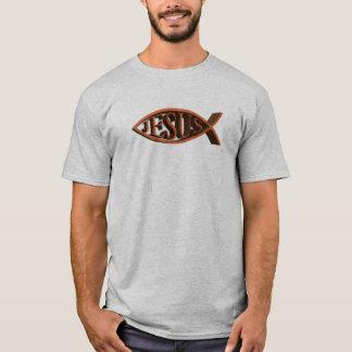 Ichthys Eichen-christliches Fisch-Symbol T-Shirt