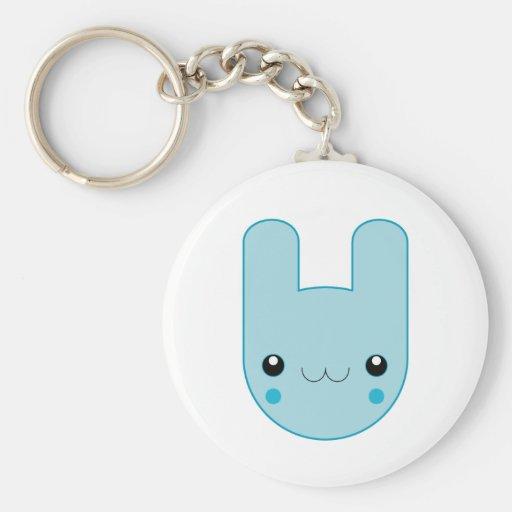 Ickle blaues Häschen Keychain Schlüsselband