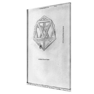 Icosahedron, von 'De Divina Proportione' Galerie Gefaltete Leinwand