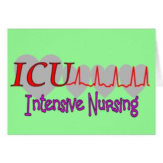 ICU INTENSIVE Krankenpflege-einzigartige Geschenke Karte