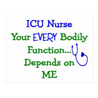 ICU Krankenschwester-Geschenke Postkarte