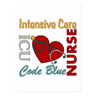 ICU - Krankenschwester Postkarte