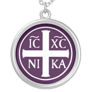 ICXC NIKA christliches orthodoxes religiöses Versilberte Kette