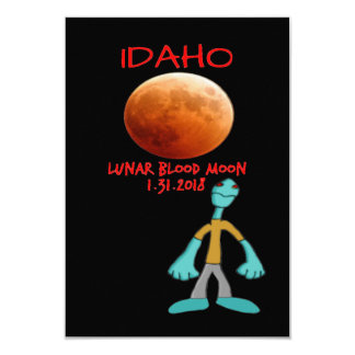 Idaho-Blut-Mond-Mondfinsternis 1.31.2018 Karte