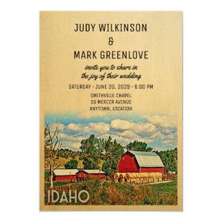 Idaho-Hochzeits-Einladungs-Bauernhof-Scheune Karte