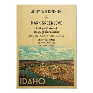 Idaho-Hochzeits-Einladungs-Vintage Mitte des Karte