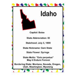 Idaho-Informationen pädagogisch Postkarte