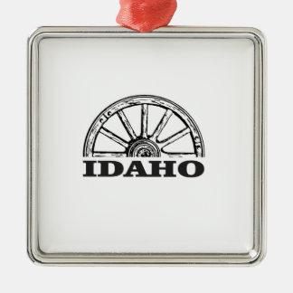 Idaho-Lastwagenrad Silbernes Ornament