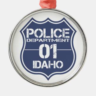 Idaho-Polizeidienststelle-Schild 01 Silbernes Ornament