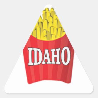 Idaho-Pommes-Frites Dreieckiger Aufkleber