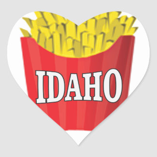 Idaho-Pommes-Frites Herz-Aufkleber