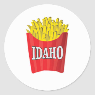 Idaho-Pommes-Frites Runder Aufkleber