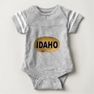 Idahoeuroart-ovale Auto-Abziehbild-Kartoffeln Baby Strampler