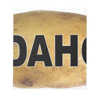 Idahoeuroart-ovale Auto-Abziehbild-Kartoffeln Notizblock