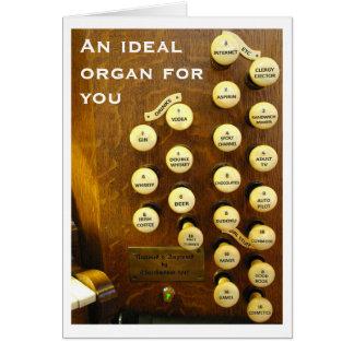 Ideale Organgeburtstagskarte Karte