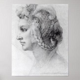 Idealer Kopf einer Frau, c.1525-28 Poster