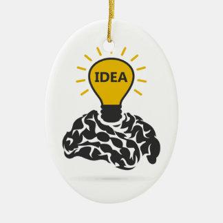 Idee eines Gehirns Keramik Ornament