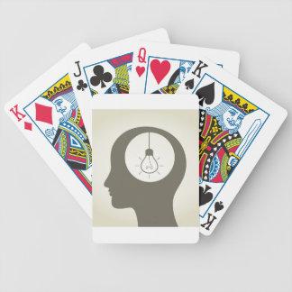 Idee in einem Kopf Bicycle Spielkarten