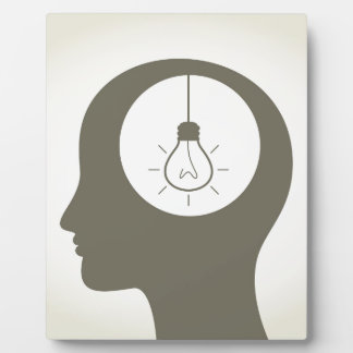 Idee in einem Kopf Fotoplatte