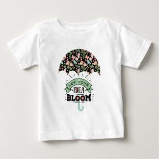 Ideen-Blüten-Regenschirm Baby T-shirt