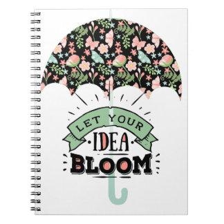 Ideen-Blüten-Regenschirm Spiral Notizblock
