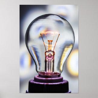 Ideen-Glühlampe Poster