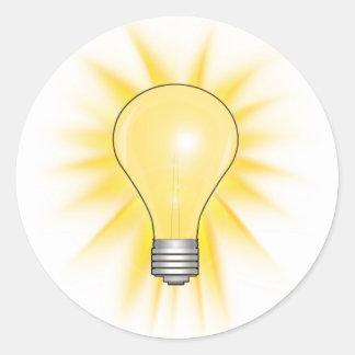 Ideen-Glühlampe Runder Aufkleber