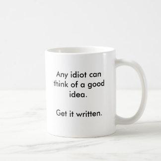 Ideen kommen einfach kaffeetasse