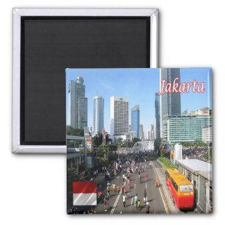 Identifikation - Indonesien - Jakarta-Auto geben Quadratischer Magnet