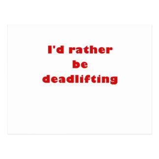 Identifikation ist eher Deadlifting Postkarte