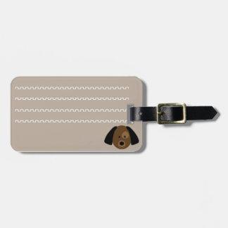 Identifikatores Etikett des Gepäcks junger Hund Kofferanhänger