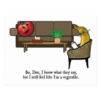 Identitätskrise, Tomate sieht Psychiater Postkarte