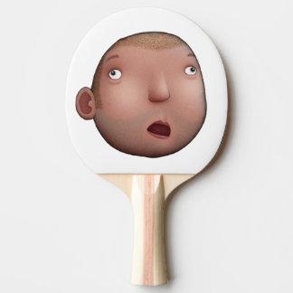 Idiot-Gesicht Tischtennis Schläger
