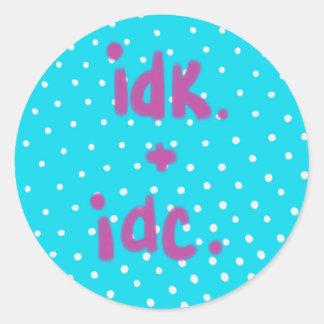 IDK + IDC Aufkleber
