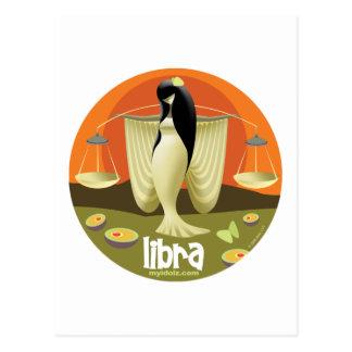 Idolz Waage-Kreis Postkarte