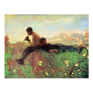 Idyl durch Giovanni Segantini Postkarte