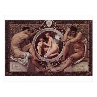Idylle (Idylls) durch Gustav Klimt Postkarte