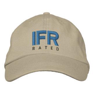 IFR Instrument-Flug-Regeln veranschlagt Bestickte Kappe