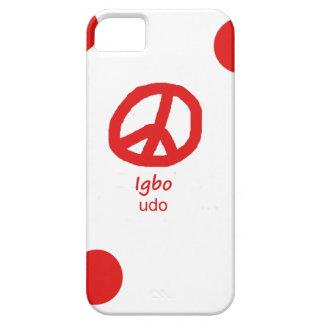 Igbo-Sprache und Friedenssymbol-Entwurf iPhone 5 Etui