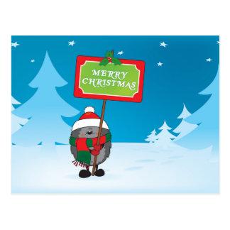 Igel der frohen Weihnachten Postkarte